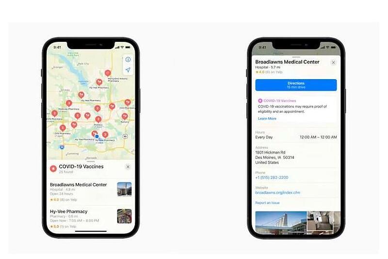Aplikacija Apple Maps