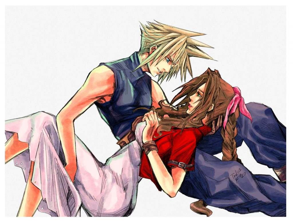 Clud Strife i Aerith Gainsborough