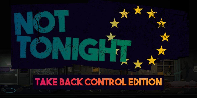 Not Tonight: Take Back Control Edition Naslovna
