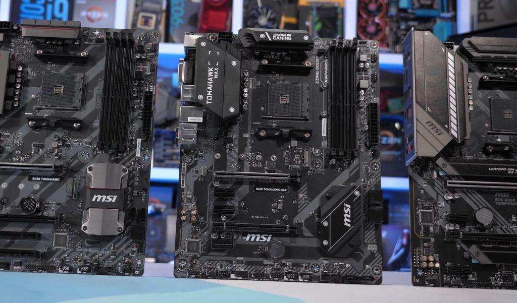 AMD B350 contra B450 contra B550 Tomahawk